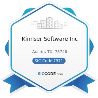 Kinnser Software Inc - SIC Code 7371 - Computer Programming Services