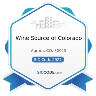 Wine Source of Colorado - SIC Code 5921 - Liquor Stores