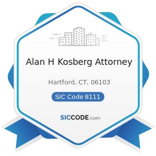 Alan H Kosberg Attorney - SIC Code 8111 - Legal Services