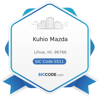 Kuhio Mazda - SIC Code 5511 - Motor Vehicle Dealers (New and Used)