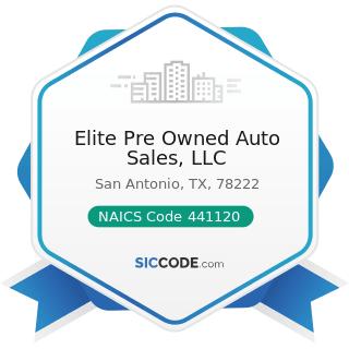 Elite Pre Owned Auto Sales, LLC - NAICS Code 441120 - Used Car Dealers