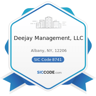 Deejay Management, LLC - SIC Code 8741 - Management Services