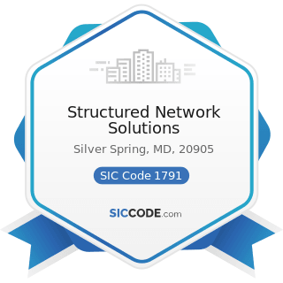 Structured Network Solutions - SIC Code 1791 - Structural Steel Erection