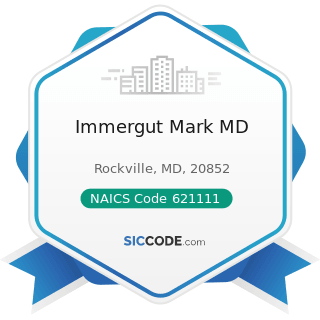 Immergut Mark MD - NAICS Code 621111 - Offices of Physicians (except Mental Health Specialists)