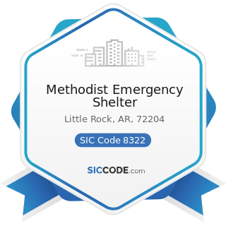Methodist Emergency Shelter - SIC Code 8322 - Individual and Family Social Services