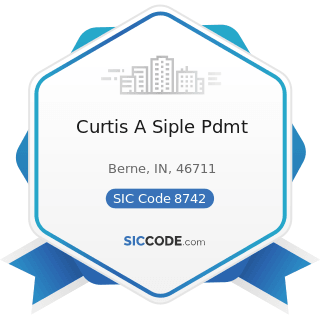 Curtis A Siple Pdmt - SIC Code 8742 - Management Consulting Services