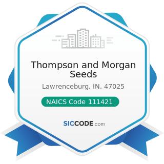 Thompson and Morgan Seeds - NAICS Code 111421 - Nursery and Tree Production