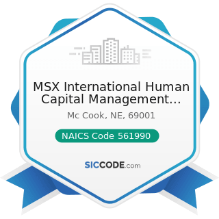 MSX International Human Capital Management Services - NAICS Code 561990 - All Other Support...