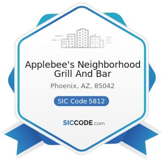 Applebee's Neighborhood Grill And Bar - SIC Code 5812 - Eating Places