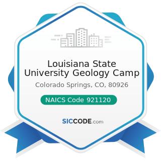 Louisiana State University Geology Camp - NAICS Code 921120 - Legislative Bodies