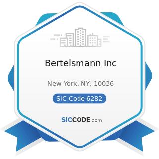 Bertelsmann Inc - SIC Code 6282 - Investment Advice