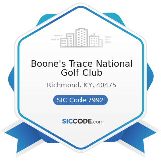 Boone's Trace National Golf Club - SIC Code 7992 - Public Golf Courses