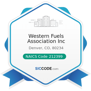 Western Fuels Association Inc - NAICS Code 212399 - All Other Nonmetallic Mineral Mining