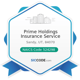 Prime Holdings Insurance Service - NAICS Code 524298 - All Other Insurance Related Activities