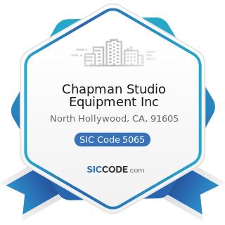 Chapman Studio Equipment Inc - SIC Code 5065 - Electronic Parts and Equipment, Not Elsewhere...