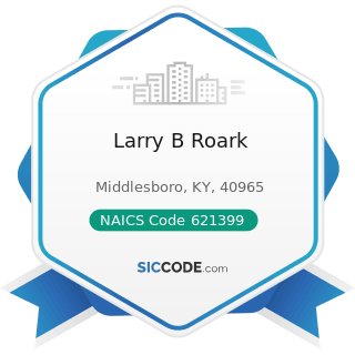 Larry B Roark - NAICS Code 621399 - Offices of All Other Miscellaneous Health Practitioners