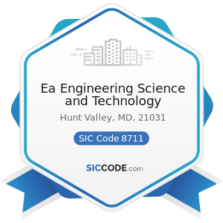 Ea Engineering Science and Technology - SIC Code 8711 - Engineering Services