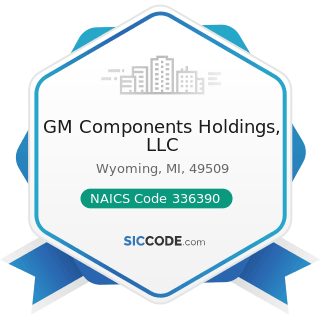GM Components Holdings, LLC - NAICS Code 336390 - Other Motor Vehicle Parts Manufacturing
