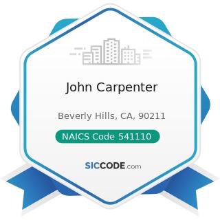 John Carpenter - NAICS Code 541110 - Offices of Lawyers