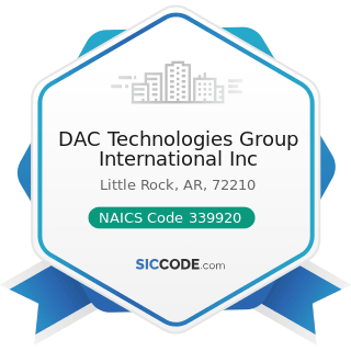 DAC Technologies Group International Inc - NAICS Code 339920 - Sporting and Athletic Goods...