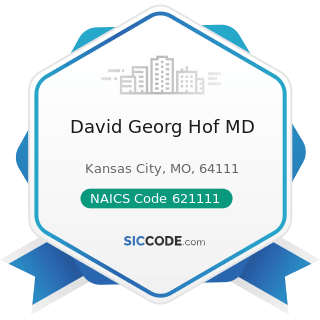 David Georg Hof MD - NAICS Code 621111 - Offices of Physicians (except Mental Health Specialists)