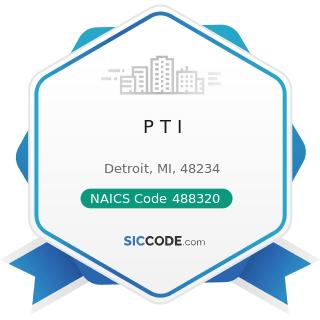 P T I - NAICS Code 488320 - Marine Cargo Handling