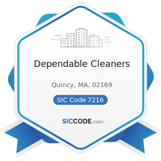Dependable Cleaners - SIC Code 7216 - Drycleaning Plants, except Rug Cleaning
