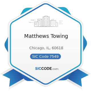 Matthews Towing - SIC Code 7549 - Automotive Services, except Repair and Carwashes