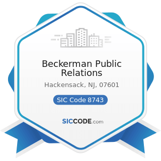 Beckerman Public Relations - SIC Code 8743 - Public Relations Services