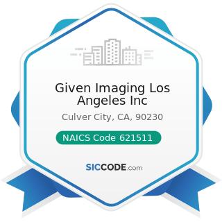 Given Imaging Los Angeles Inc - NAICS Code 621511 - Medical Laboratories