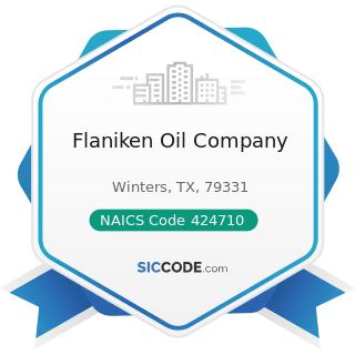 Flaniken Oil Company - NAICS Code 424710 - Petroleum Bulk Stations and Terminals