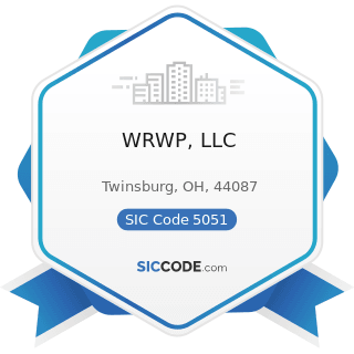 WRWP, LLC - SIC Code 5051 - Metals Service Centers and Offices