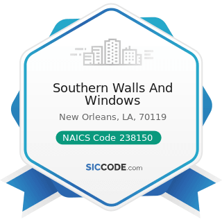 Southern Walls And Windows - NAICS Code 238150 - Glass and Glazing Contractors