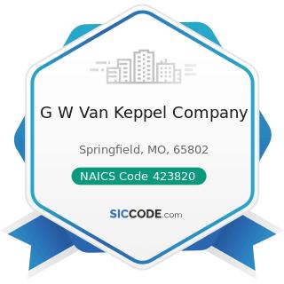 G W Van Keppel Company - NAICS Code 423820 - Farm and Garden Machinery and Equipment Merchant...
