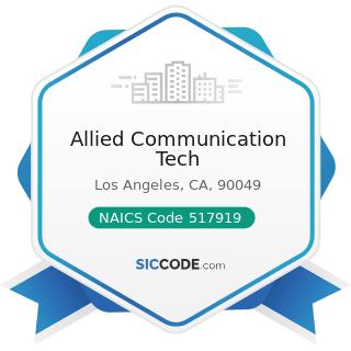 Allied Communication Tech - NAICS Code 517919 - All Other Telecommunications