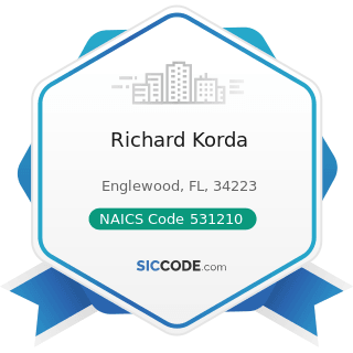 Richard Korda - NAICS Code 531210 - Offices of Real Estate Agents and Brokers