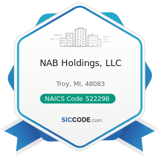 NAB Holdings, LLC - NAICS Code 522298 - All Other Nondepository Credit Intermediation