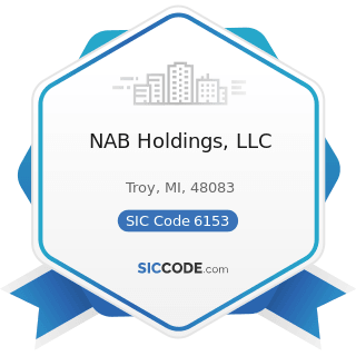 NAB Holdings, LLC - SIC Code 6153 - Short-Term Business Credit Institutions, except Agricultural