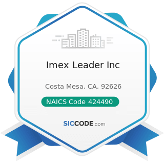 Imex Leader Inc - NAICS Code 424490 - Other Grocery and Related Products Merchant Wholesalers