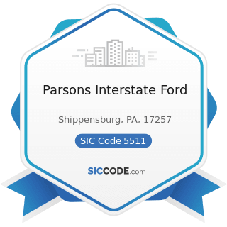 Parsons Interstate Ford - SIC Code 5511 - Motor Vehicle Dealers (New and Used)