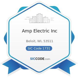 Amp Electric Inc - SIC Code 1731 - Electrical Work