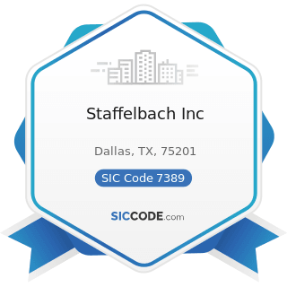 Staffelbach Inc - SIC Code 7389 - Business Services, Not Elsewhere Classified