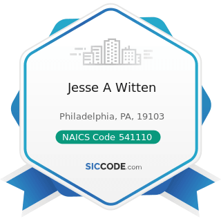 Jesse A Witten - NAICS Code 541110 - Offices of Lawyers