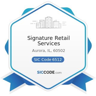 Signature Retail Services - SIC Code 6512 - Operators of Nonresidential Buildings