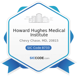 Howard Hughes Medical Institute - SIC Code 8733 - Noncommercial Research Organizations