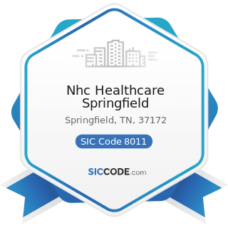 Nhc Healthcare Springfield - SIC Code 8011 - Offices and Clinics of Doctors of Medicine