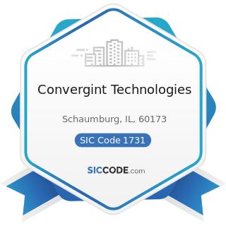 Convergint Technologies - SIC Code 1731 - Electrical Work