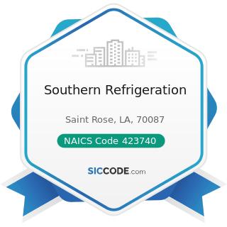 Southern Refrigeration - NAICS Code 423740 - Refrigeration Equipment and Supplies Merchant...