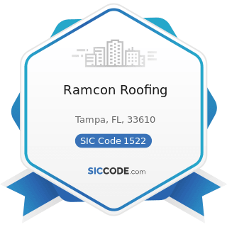 Ramcon Roofing - SIC Code 1522 - General Contractors-Residential Buildings, other than...