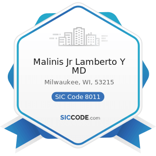 Malinis Jr Lamberto Y MD - SIC Code 8011 - Offices and Clinics of Doctors of Medicine